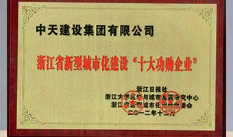 """2012年浙江省新型城市化建设""""十大功勋企业"""""""