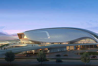 宁波奥体中心项目游泳馆、体育馆、综合训练馆幕墙(含金属屋面)工程施工