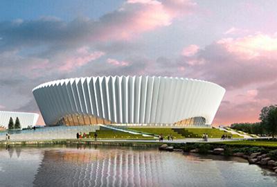 东阳市体育馆新建项目主体工程