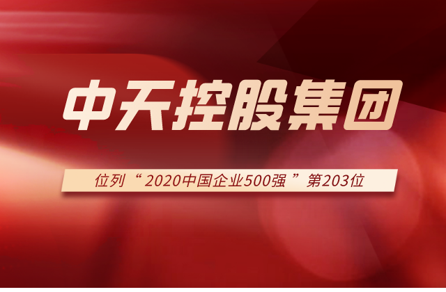中天控股集团列2020中国企业500强第203位!